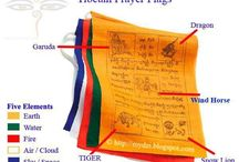 Tibetan Buddhist flags