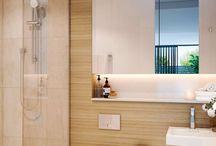 Apartment bathrooms