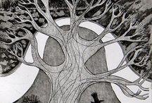 Деревья, дома