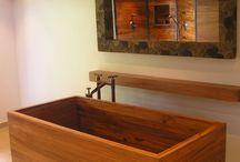 Amazing Wooden Bathtub
