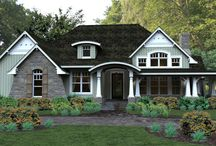 Charming Cottage House Plan 4838 / Discover one of The House Designers' best-selling cottage house plans! This one-story home feature a beautiful front wraparound porch and lanai with fireplace and grilling kitchen. Inside is 2,267 s. f. featuring split bedrooms with a well-appointed kitchen and dining space. The front of this home has a nice foyer with a large great room with fireplace. For extra living there is a bonus space, as well as an option for a finished basement. http://www.thehousedesigners.com/plan/pleasant-cove-4838/ / by Best-Selling House Plans