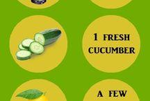 Losing weight ginger/cucumber/lemon drink