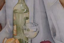 Akvarel stillebeners