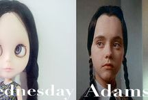 "My Custom Blythe Doll"" Wednesday Adams"" Model"