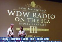 Ridley on WDW Radio / Ridley talking with WDW Radio founder, Lou Mongello