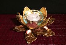 Lotus Flower Art - Rise and Bloom / Lotus Candle Holders, Lotus Jewelry Boxes