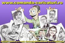 Choose www.comanda-caricaturi.ro for the best present! / Caricatures, paintings, portraits. ART in one word!