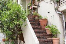 階段 レンガ