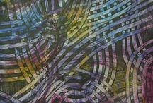 Buntpapiere / Decorated papers / art-paste paper / Buntpapiere (decorated papers) sind aus Rohpapier hergestellt und nachträglich maschinell oder mit der Hand durch verschiedenene Verfahren farbig verändert.