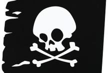 silhouette mer et pirate