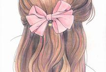 sketsa rambut