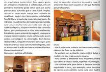 Meu Post sobre Paletes na Revista Dicas Mulher! / Veja + Inspirações e Dicas de decoração no blog!  www.construindominhacasaclean.com