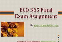 ECO 365 Final Exam