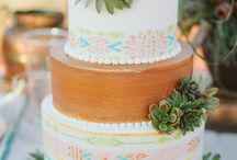 aztec wedding cake