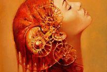 Karol Bak. beautiful painter. / Karol Bak . beautiful painter .