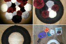 Créations entre tissages et pompons / Utiliser la laine afin de créer des tissages et des couronnes pour décorer les pièces de la maison.