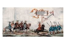 The triumphal procession of Maximilian / The Emperor of Holy Roman Empire Maximilian I (1459-1519, elected to be an Emperor in 1508) created huge «virtual » triumph which existed only on paper. «Triumph of Maximilian» (started in 1512 and was not finished by Maximilian's death in 1519) contains over 130 big block-prints by Durer and other artists representing huge procession approaching the Emperor.