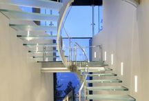 Contemporary glass stairs / Stairs