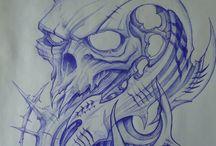 drachen Skelett
