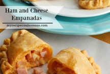 Empanadas de queso y jamon.