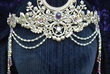 headdress, tiara, veils