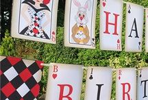 Mad Hatter Bunting / Lots of beautiful bunting for your Mad Hatters Tea Party / Alice in Wonderland Party