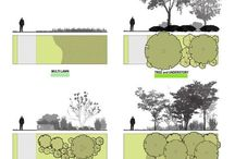 Arkitekt landskap tegninger