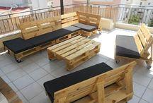 raklap kerti bútorok