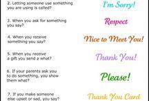 Character Development / Manners / Etiquette