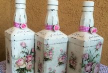 frascos latas y botellas