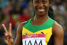 Jamaica's Olympic Sprinter Shelly-Ann Fraser-Pryce / This board is about Jamaica's greatest female athlete, Shelly-Ann Fraser-Price. She first gained international recognition when she won her first gold medals (100m and 200m) in the Beijing Olympics in 2008. She defended her  medals in the London Olympics in 2012.
