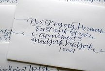 ~ Calligraphy & Letter Writing ~