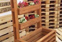 jardín vertical de madera