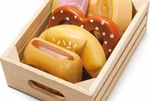 Wooden toys for imaginative play! / A collection of wooden toys offered for sale by From Lola With Love.
