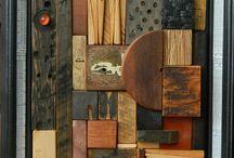 Abstract Wood Artwork