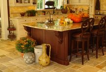 Kitchen: Flooring, countertops and cabinets