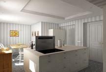 Reforma de cocina en Las Arenas / #reforma #arquitectura #diseño #interiorismo #3D #infografias #previsualización3D #iluminación #Gumuzio&PRADA