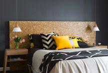 The dark walled bedroom