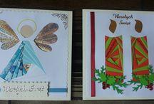 Christmas card /  kartki bożonarodzeniowe / Array contains cards handmade by me.  Tablica zawiera kartki własnoręcznie wykonane przeze mnie