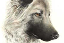 DOG PAINTINGS AND PRINTS