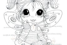 Sherri Baldy My-Besties Fairy Time free to colour