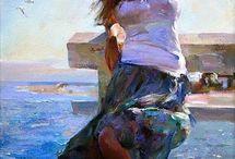 Girl on seaside