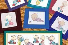 Schemi punto croce bambini e neonati