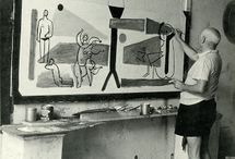 Artistas y sus estudios / Artistas trabajando y sus lugares de trabajo