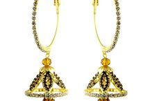 Dazzling Bollywood Style Party Wear Jhumki Earrings