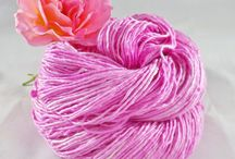 Hand-Dyed Yarn / This board has commercially spun (millspun) yarn that has been dyed or painted by indie dyers, including some of my yarn.