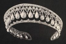 Russia Imperial Court and Jewels / Romanov tiara necklace jewelry diamond pearl