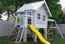 Domki na drzewie i zabawy w ogrodzie