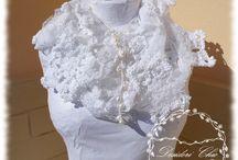 sciarpa shabby chic / #desiderichic, #chic, #shabbychic, #shabbychicscarf, #sciarpashabbychic, #mattonelleuncinetto, #crochet