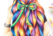 Hair illustation